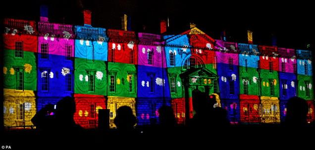 Let there be light: Kings College at Cambridge University is illuminated during the spectacular light show marking the end of 800th anniversary celebrations