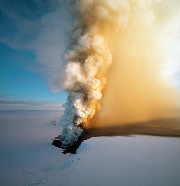 Volcanic eruptions, common throughout Iceland's history, are often triggered by seismic activity when the Earth's plates move and when magma from deep underground pushes its way to the surface