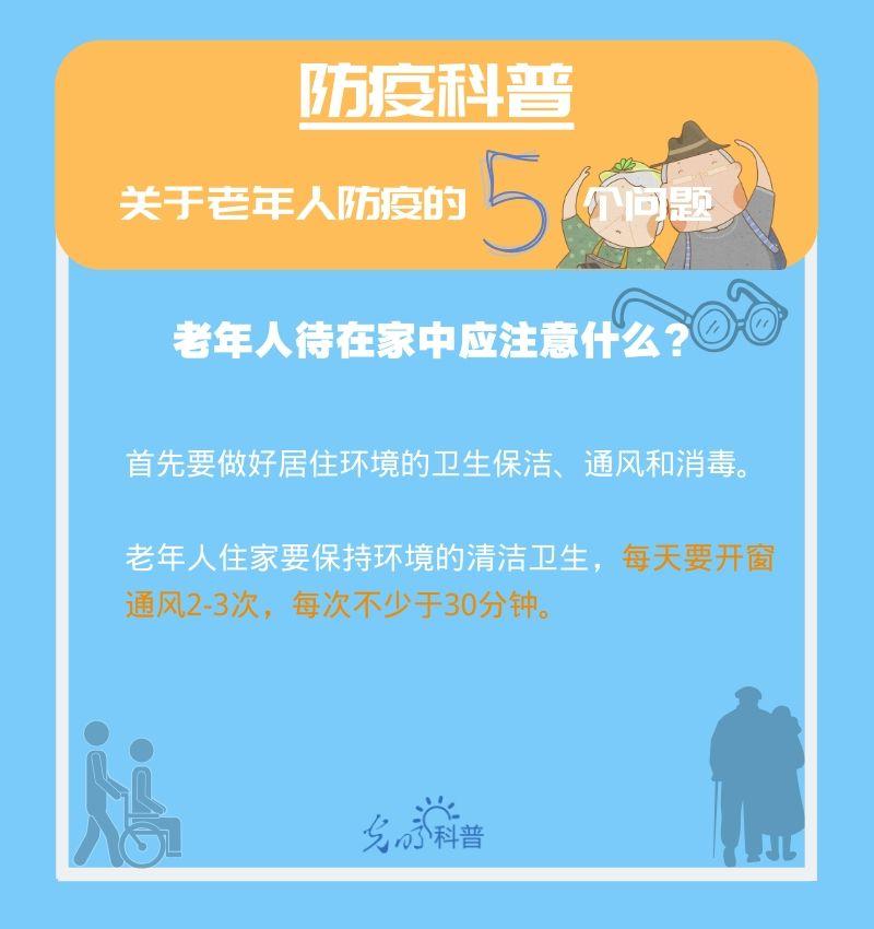 【防疫科普】高危人群注意!关于老年人防疫的5个问题