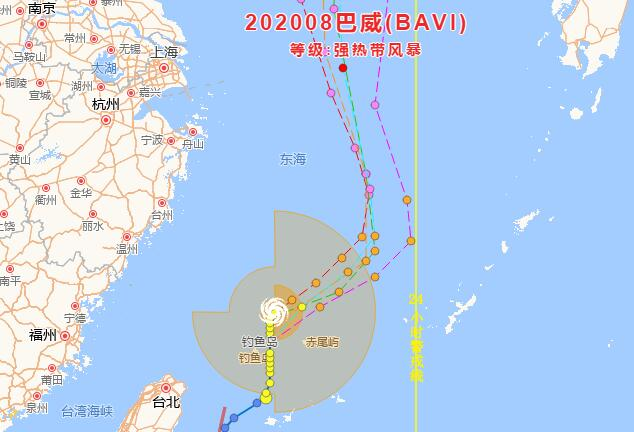 """今年第8号台风""""巴威""""生成 浙江启动海上防台风应急响应"""