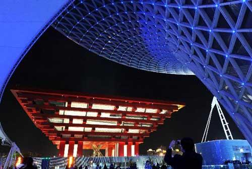Night scenery at Shanghai World Expo Park. (Xinhua)