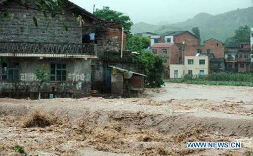 Rainstorms have disrupted the lives of more than 2 million people in 29 counties across Anhui Province since July 8.(Photo: china.org.cn)