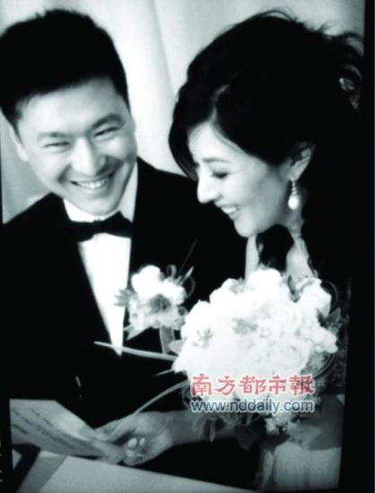 李嘉欣在微博内贴出姐姐的婚照