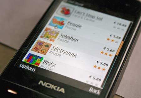 A test version of Nokia's Ovi Store is seen in a picture taken in Helsinki May 14, 2009. (Xinhua/Reuters File Photo)