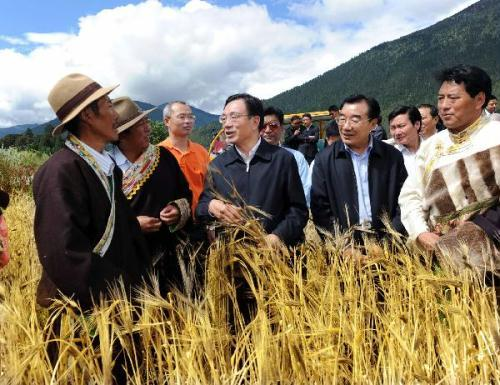 "A senior Chinese leader has called on local various-level governments and people in Tibet to make continuous efforts to achieve ""leapfrog development and lasting stability"" in the autonomous region."