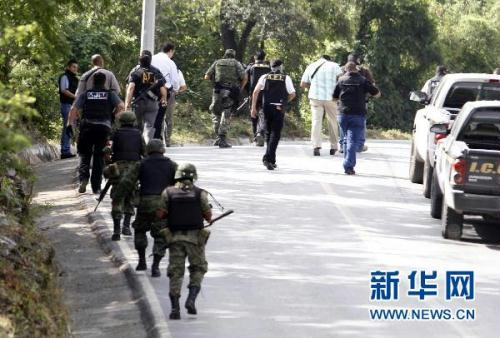 Aug 18, Mexican militants are on guard around the spot. The mayor's body was found handcuffed and blindfolded outside the nearby city of Monterrey, local media said.