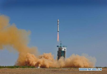 "A mapping satellite, ""Mapping Satellite - I,"" is launched from the northwestern Jiuquan Satellite Launch Center, at 3:10 p.m. (Beijing time) on Aug. 24, 2010. The satellite, which was launched on a Long March 2-D carrier rocket, had entered into the preset orbit, according to the center. (Xinhua/Liang Jie)"