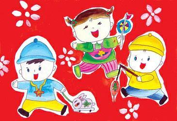 关于爱祖国的儿童画