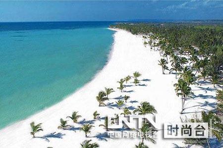 白沙 世界上/加勒比与这个世界上的任何地方都不一样,这里是岛屿和波浪的...