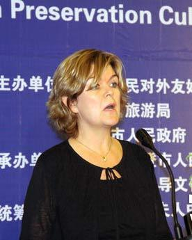冰岛驻华大使柯丝婷女士致辞