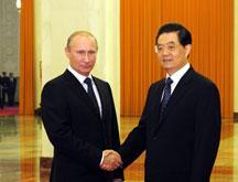 Le président chinois rencontre le PM russe