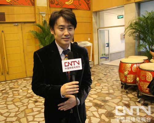 演员吴秀波接受媒体采访