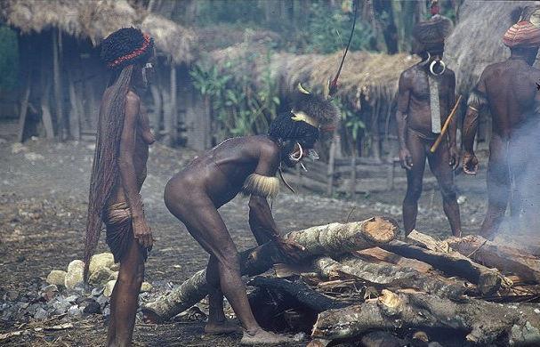 人类部落另一面 印尼土著巴布亚人古老原始生