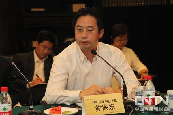 中国电力建设集团有限公司副总经理黄保东就中国企业国际化进行讨论