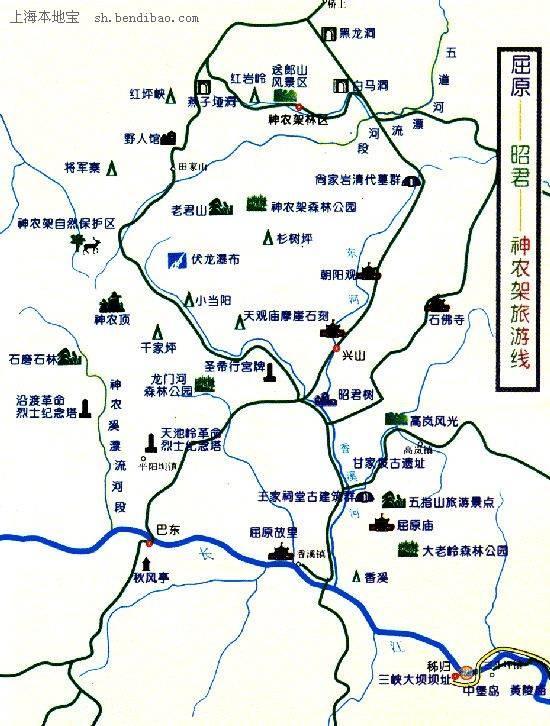 神农架旅游线路图