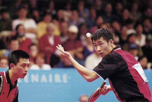中国奥运金牌录 第69金 王励勤 阎森 2000年 乒乓球