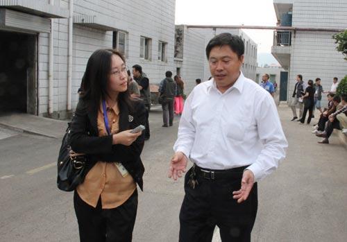 央视网记者采访趵突泉公司副总李秀华