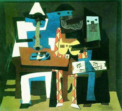 三个音乐家 油画 帕布洛 毕加索 高清图片