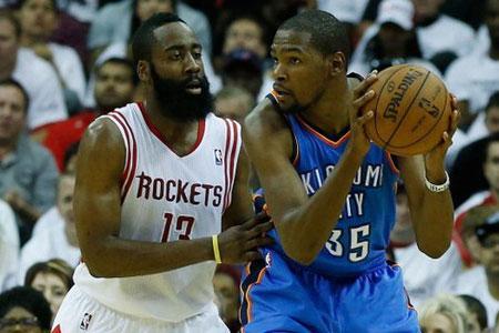 2日9:30视频直播NBA季后赛:火箭VS雷霆