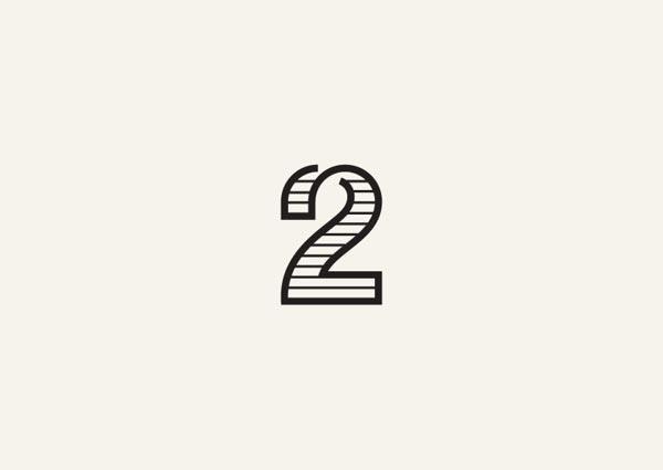 格鲁吉亚设计师george bokhua进行的那些关于文字,数字的logo设计.图片