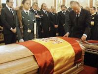 Reyes de España presiden funeral de Estado de Adolfo Suárez