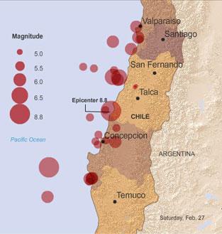 زلزال شيلي