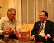 亚太总裁协会全球主席德维尔潘与全球执行主席郑雄伟亲切交流