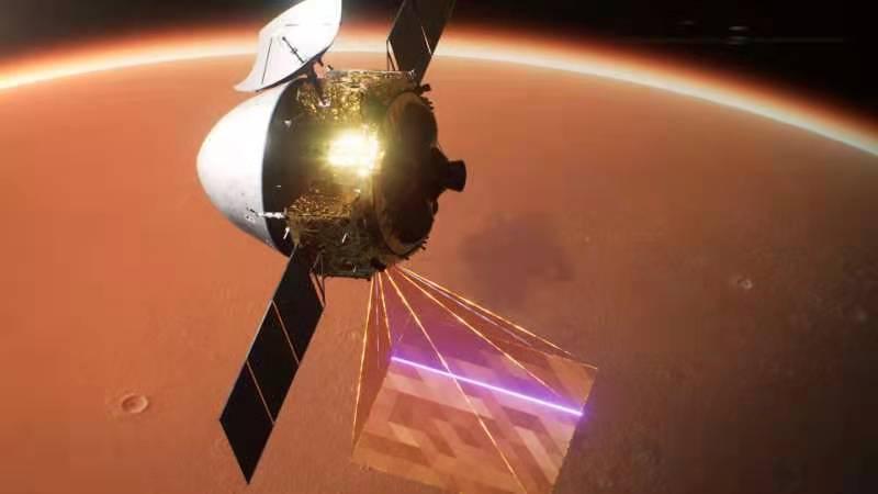 天问一号探测器成功实施近火制动 进入火星停泊轨道