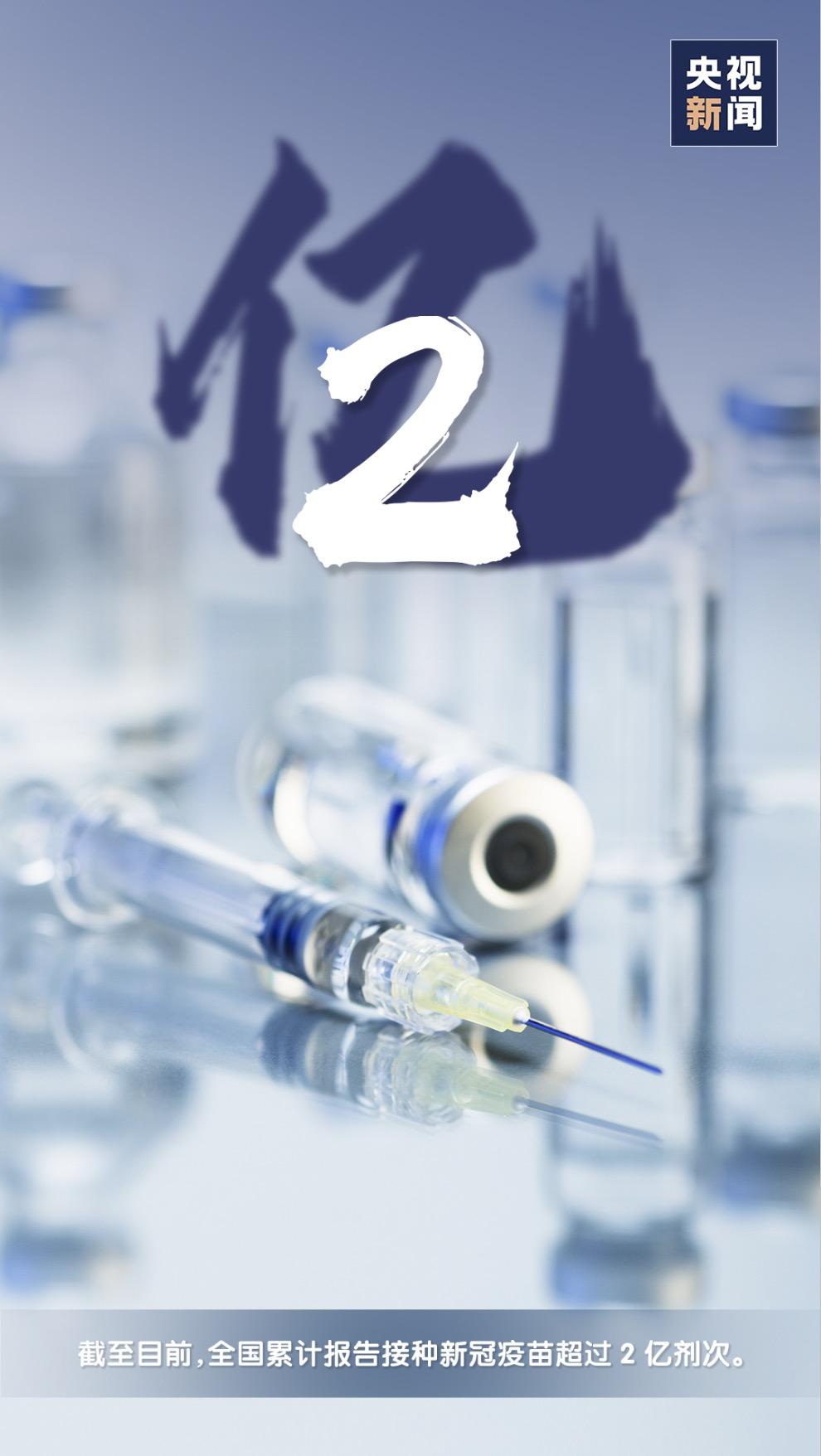 一起打疫苗!全国接种新冠疫苗超过2亿剂次!