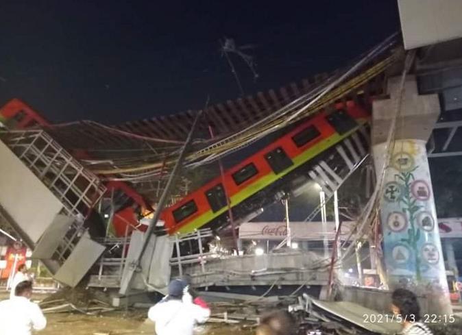 墨西哥首都地铁12号线发生垮塌事故 已致15死70伤