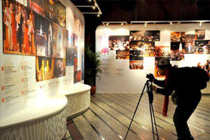 Visitors take photos in NCPA