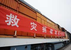 Donaciones llegan a las zonas afectadas por el sismo en China