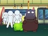 绿豆蛙 绿豆蛙系列动画短片之公益系列 地铁杂技