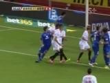 [西甲]佩德罗-莱昂开出角球 阿莱克西斯头球破门
