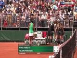 [法网]男单第一轮:法拉VS费德勒 第一盘