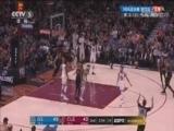 [NBA]詹姆斯突破内线分底角 JR接球命中精准三分