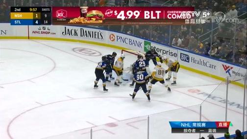 [NHL]常规赛:纳什维尔掠夺者VS圣路易斯蓝调 第二节