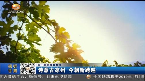 [甘肃新闻]四十年巨变看陇原 诗意古凉州 今朝新跨越