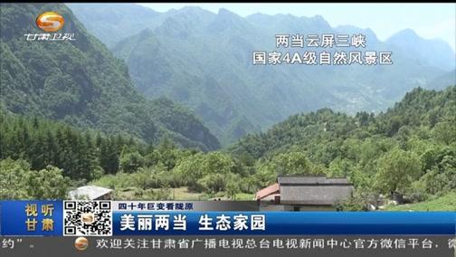 [甘肃新闻]四十年巨变看陇原 美丽两当 生态家园
