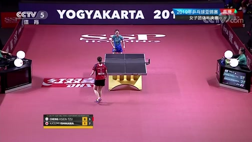 [乒乓球]亚锦赛女子团体半决赛:日本VS中国台北 2