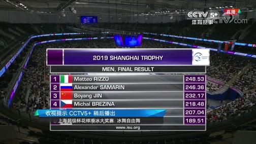 [花滑]上海超级杯花滑大奖赛:男单自由滑