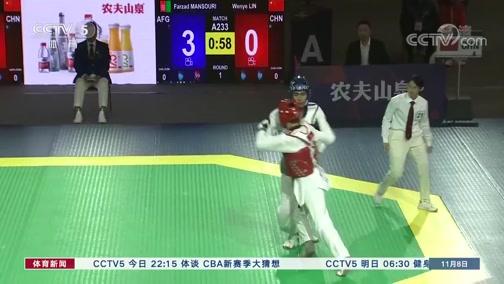 [跆拳道]中国跆拳道公开赛 林文烨摘得金牌