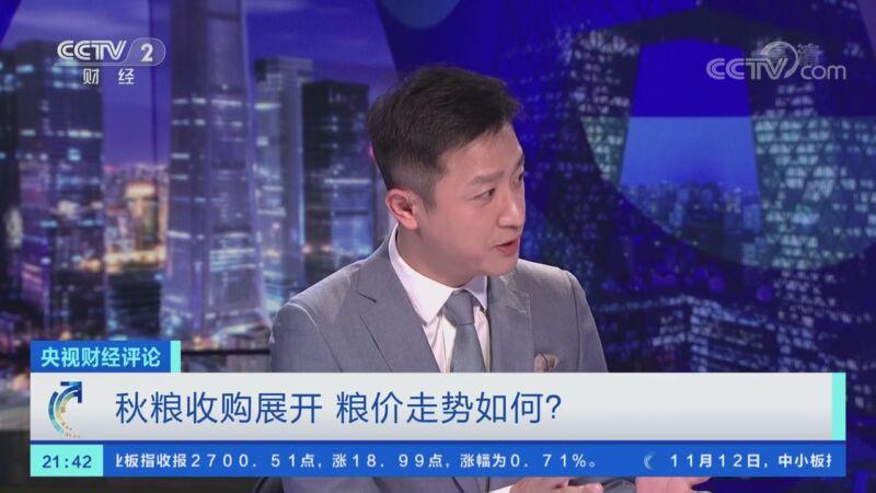 《央视财经评论》 20201112 秋粮收购展开 粮价走势如何?