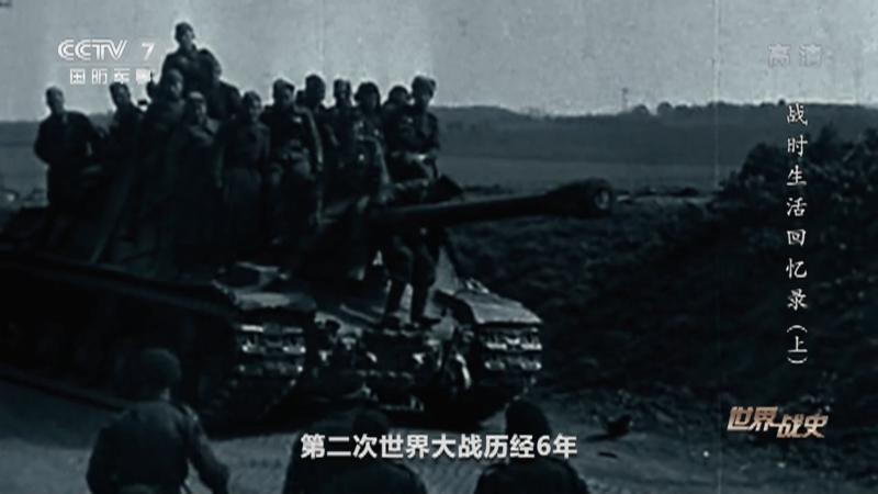 《世界战史》 20210223 战时生活回忆录(上)
