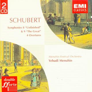 舒伯特 第八号 未完成 交响曲和第九号交响曲,四首序曲