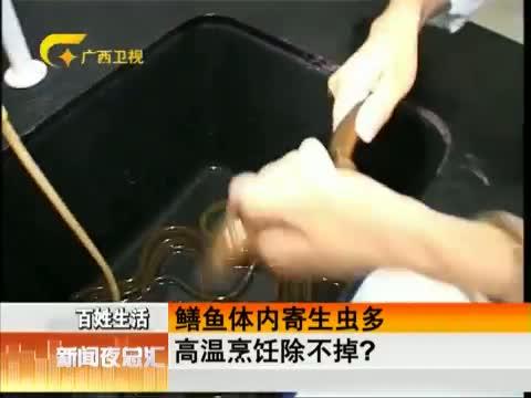 鳝鱼体内寄生虫多 高温烹饪除不掉?