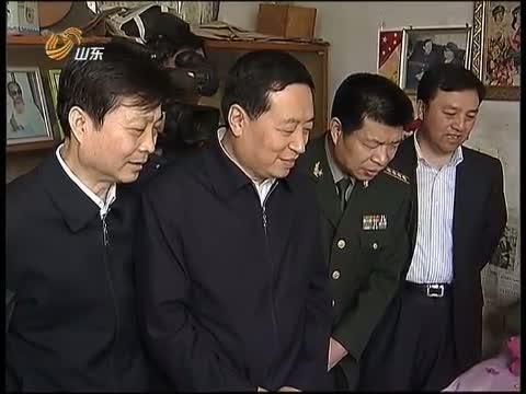 """[山东新闻联播]孙守刚看望慰问""""时代楷模""""朱彦夫"""