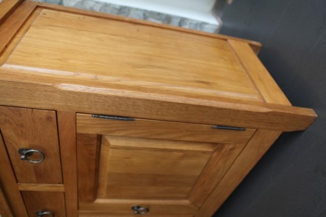 泰元家具欧式风格餐边柜实木柜原木色宜家时尚环保柜