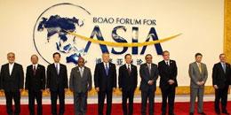 S´efforcer de faire du Forum asiatique de Bo´ao un forum de haut niveau, et, par la convergence continuelle de l´économie régionale, promouvoir la réalisation de l´objectif de développement des pays asiatiques.