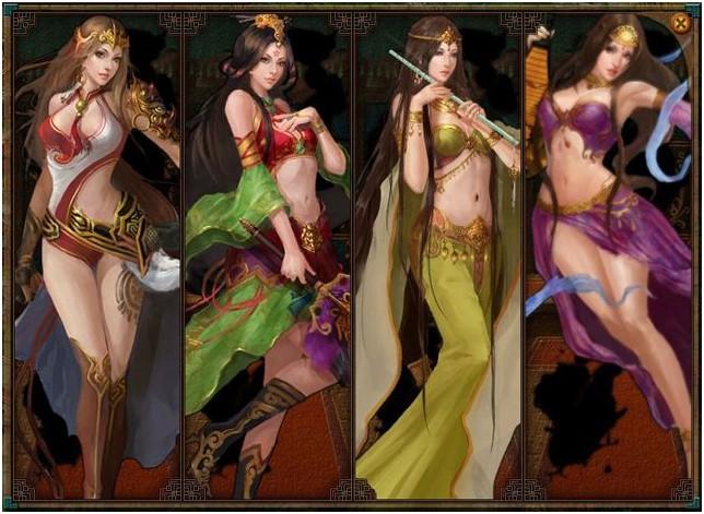 凤仪亭为三国女将的美人培养新系统